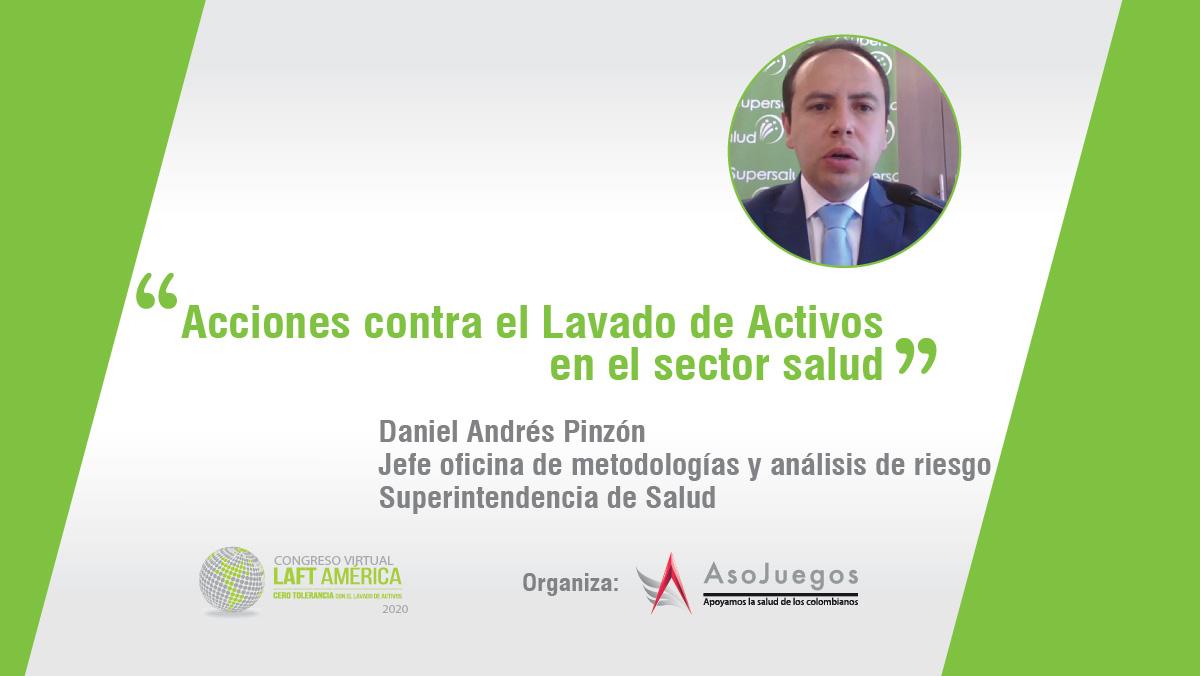 Daniel Pinzón, jefe oficina de metodologías y análisis de riesgo de Supersalud