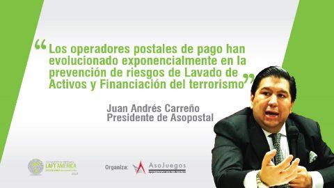 Juan Andrés Carreño, presidente de Asopostal