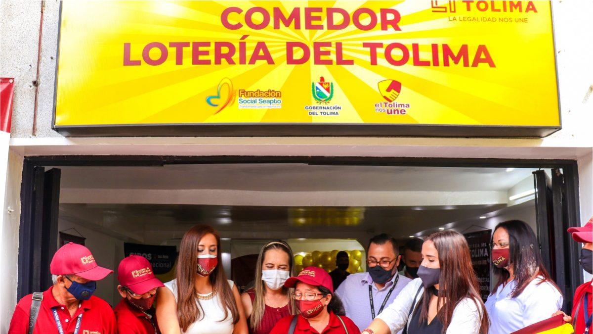 Lotería del Tolima y GanaGana inauguran comedor comunitario para loteros de Ibagué