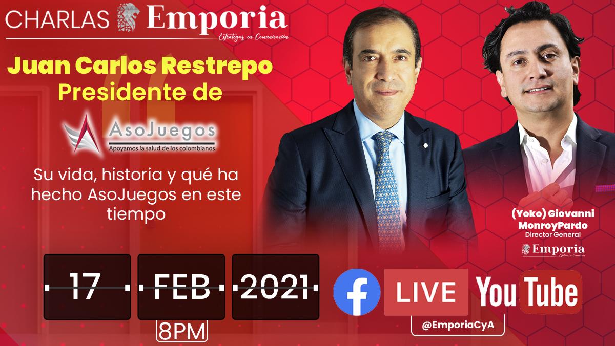 Hoy a las 8 PM conoce un poco más de la vida de Juan Carlos Restrepo, presidente de Asojeugos